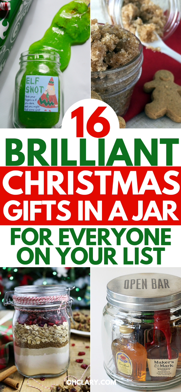 15 DIY Christmas Gifts In A Jar - Mason Jar Christmas Gifts For Everyone On Your List #christmasgiftsforcoworkers