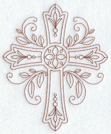 Ornate Cross (Redwork)