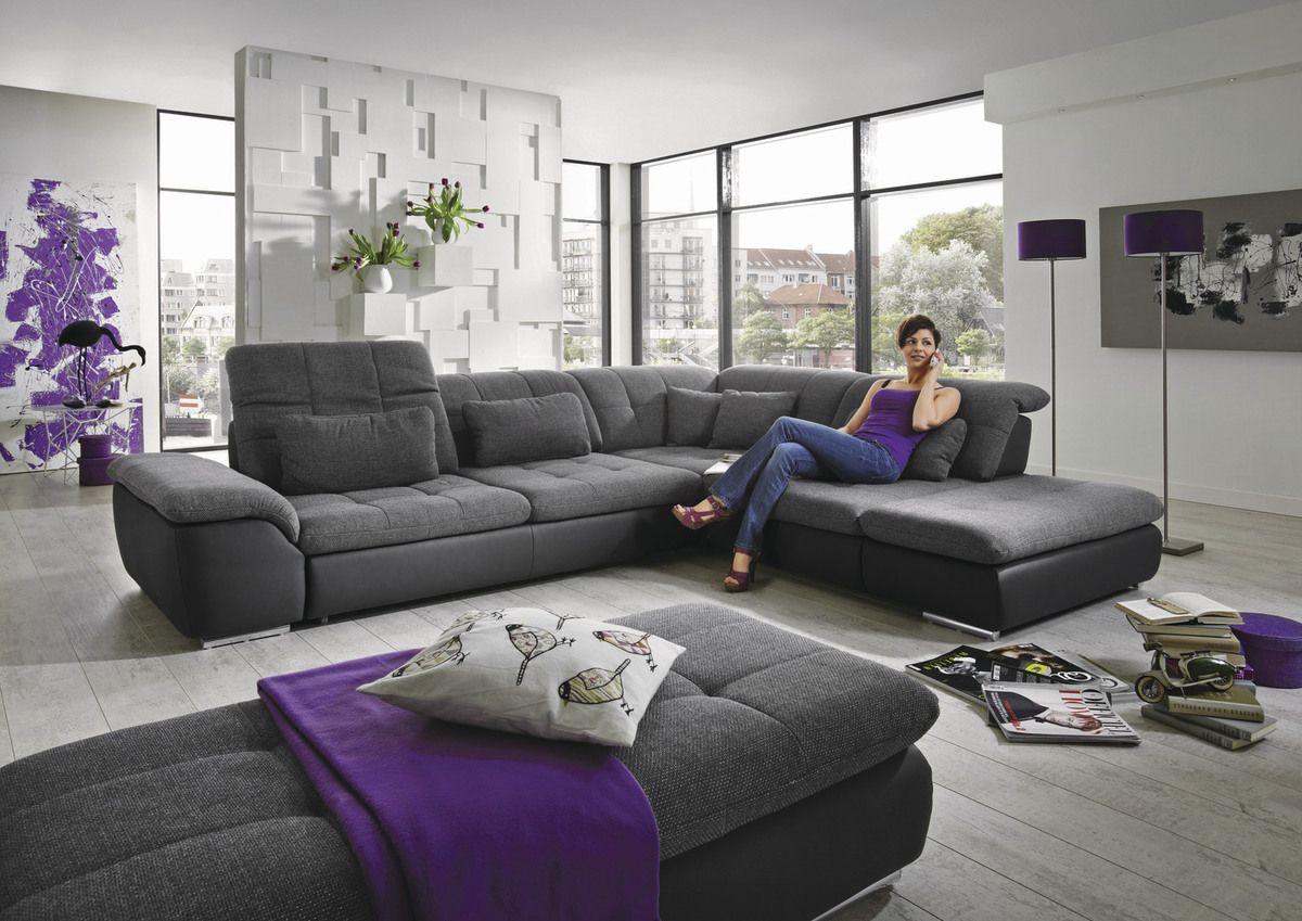 Wohnzimmer Garnituren ~ Garnitur lublin u2022u2022 funktions polsterecke stoffbezug in