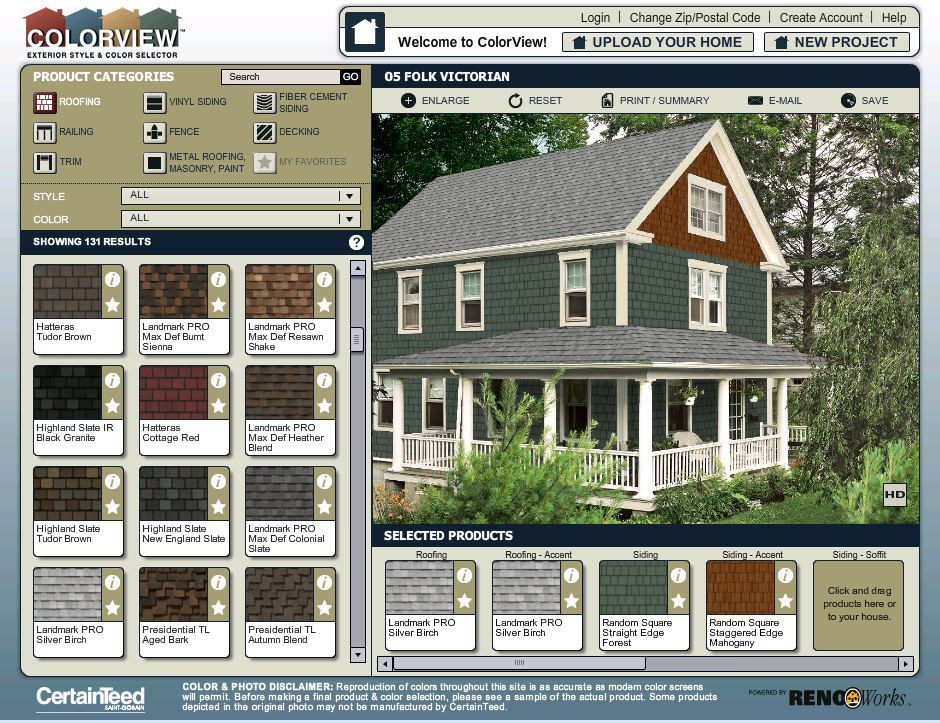 Colorview exterior style and color visualizer try out for Home exterior visualizer