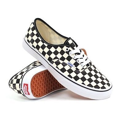 Vans Authentic (golden Coast) Black/white Checkerboard Women's Shoes 9.5 -  Men 8
