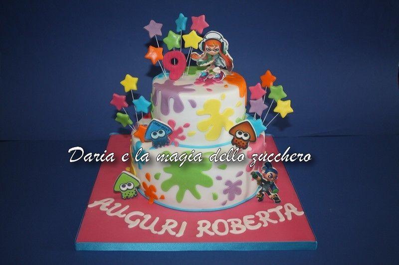 Torte Bambini ~ Torta splatoon splatoon cake splatoon children cakes torte