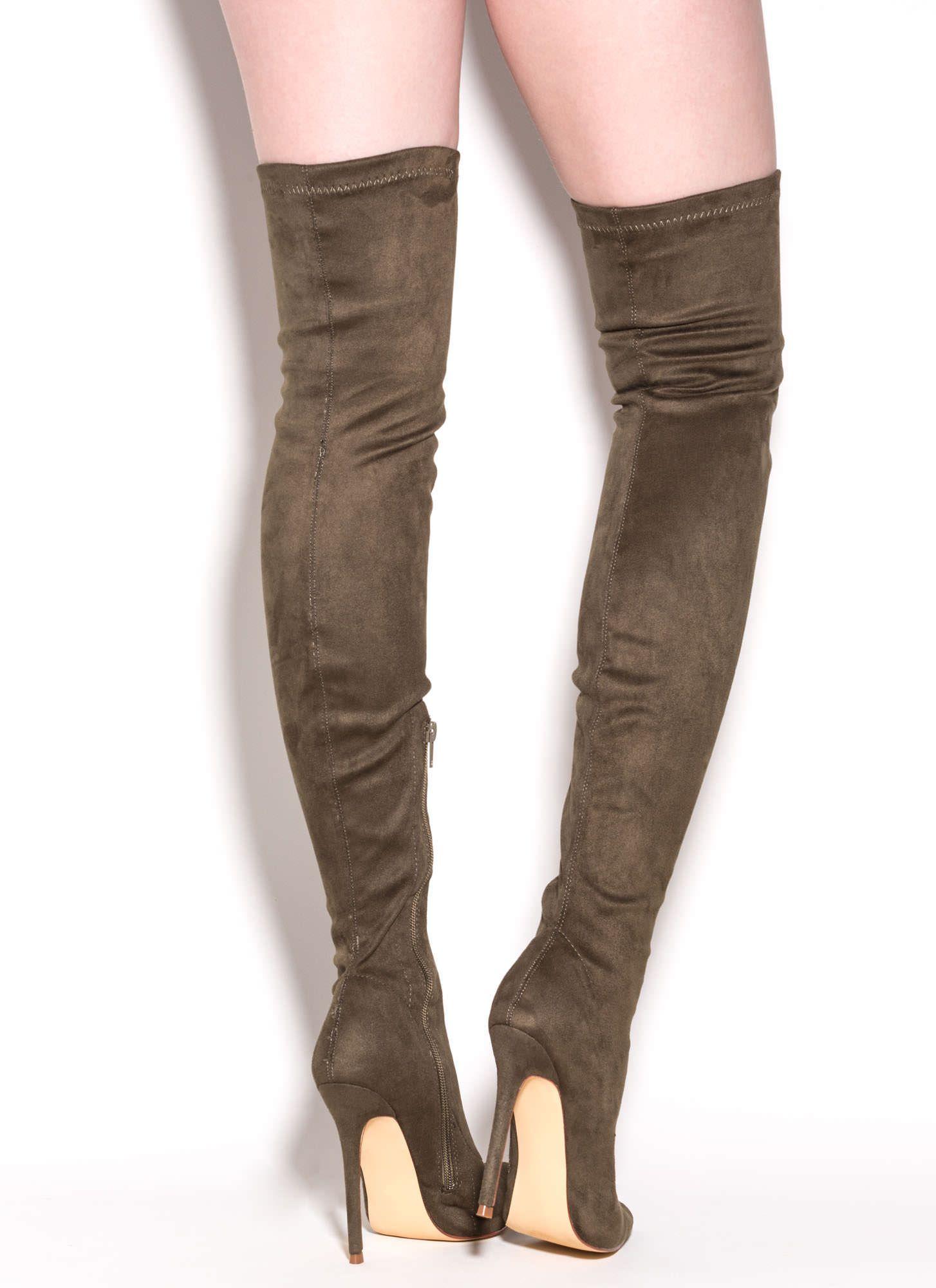 air jordan olive boots thigh