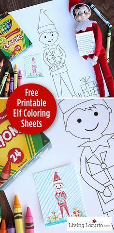 Elf On The Shelf Free Printable Coloring Sheets Livinglocurto Com