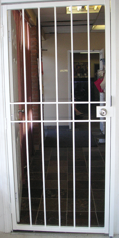#GLASSESSENTIAL® Security  Door Gate for Commercial.  http://www.glassessential.com/door-security  #door #security #doorsecurity #doorgrille #doorguard #grille #guard #bars #securitybars #securitydoor #patiodoor #stormdoor #screen  #glassessential
