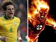 David Luiz - Tocha Humana Super Herói