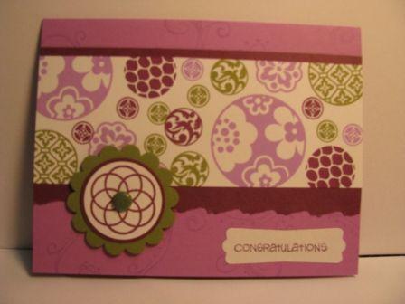 Congratulations in purple