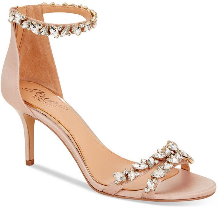 91b32886005 Badgley Mischka Caroline Embellished Ankle-Strap Evening Sandals Women s  Shoes