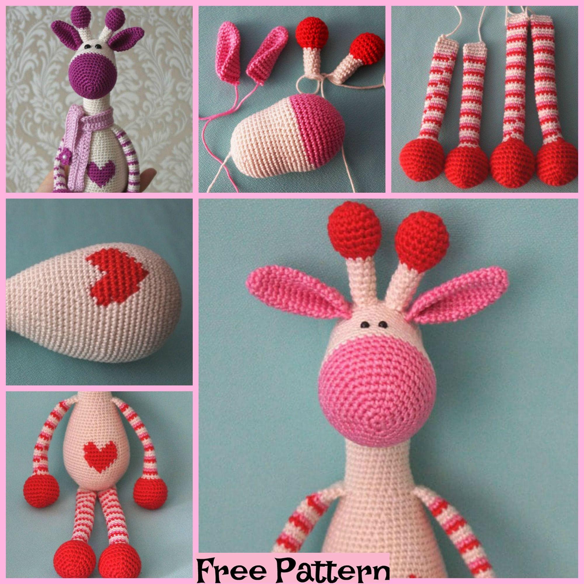 Crochet Hearty Giraffe Amigurumi Free Pattern - DIY Magazine | 2000x2000