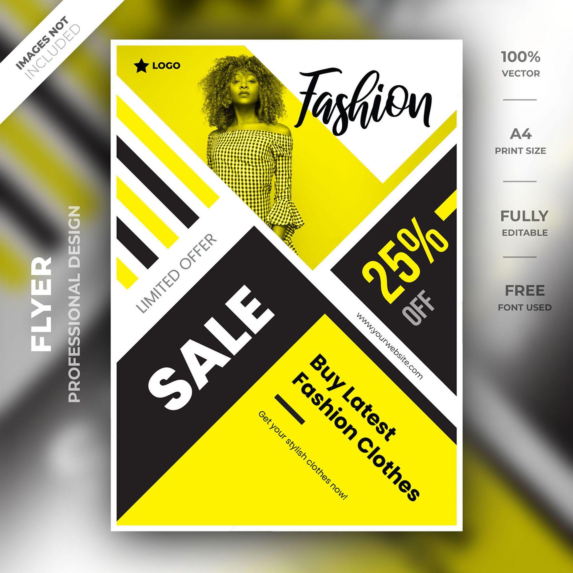 Fashion flyer template Fashion template PSD