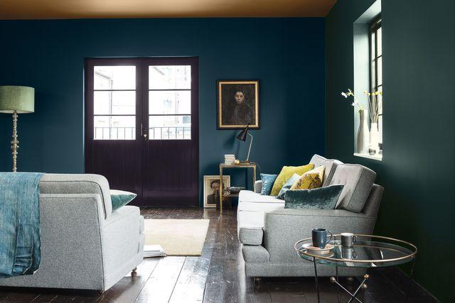 Peinture bleu  12 couleurs bleutées pour repeindre son intérieur