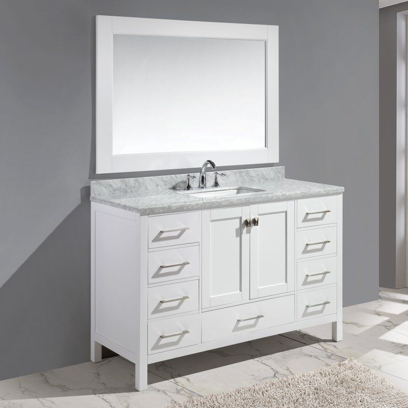 Design Element London Hyde 54 In Single Bathroom Vanity Set With