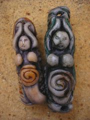 His and hers goddess dread beads large (DiVinEstudio2) Tags: wedding red green yellow hair beads or goddess large tags jewelry tribal clay present his multiple romantic dread aniversary cuff functions hers rasta pendant adornment primitive polymer focal