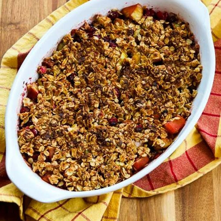 Low-Sugar Gluten-Free Cranberry Apple Crisp