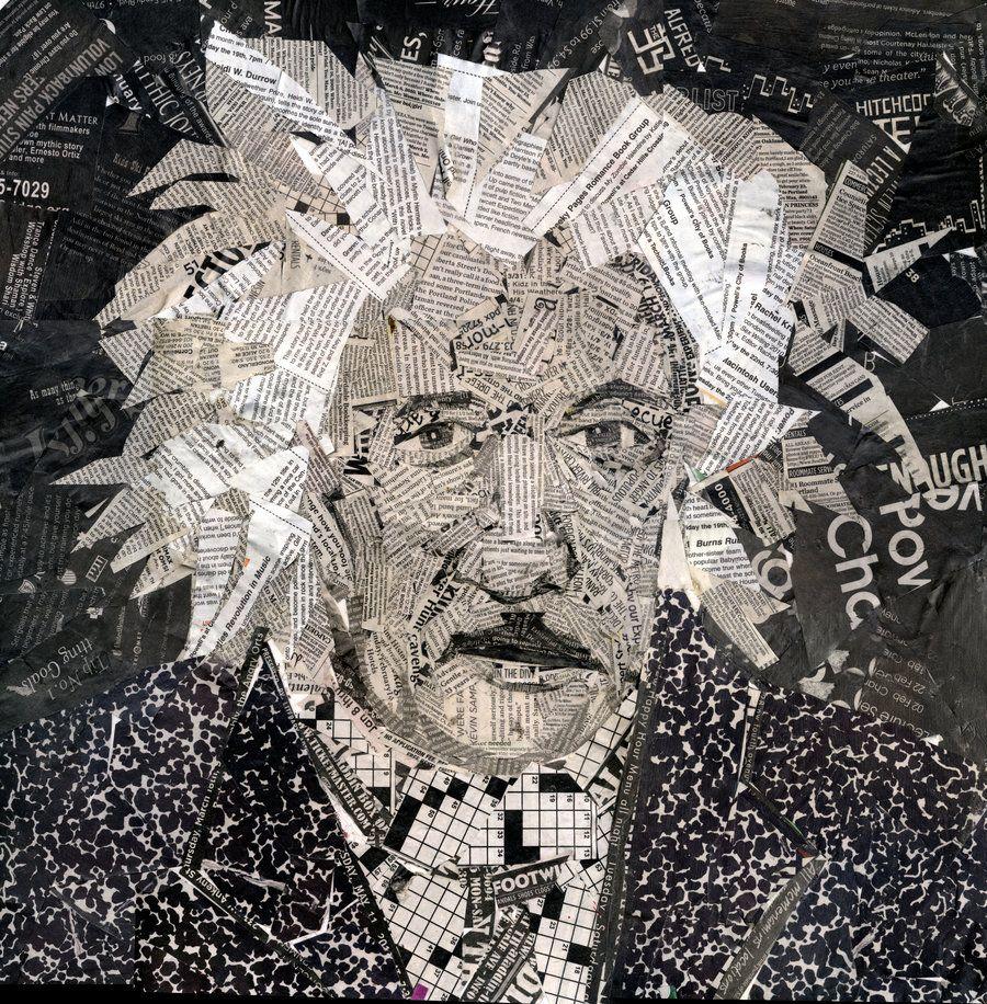 einstein self portrait collage by hamptonrodriguez ...