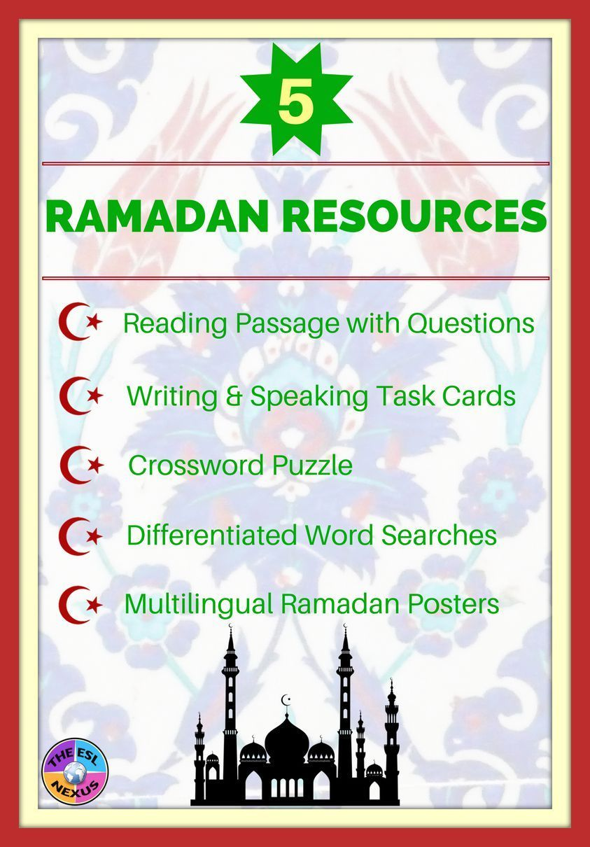 Ramadan activities with reading passage task cards puzzles posters kristyandbryce Choice Image