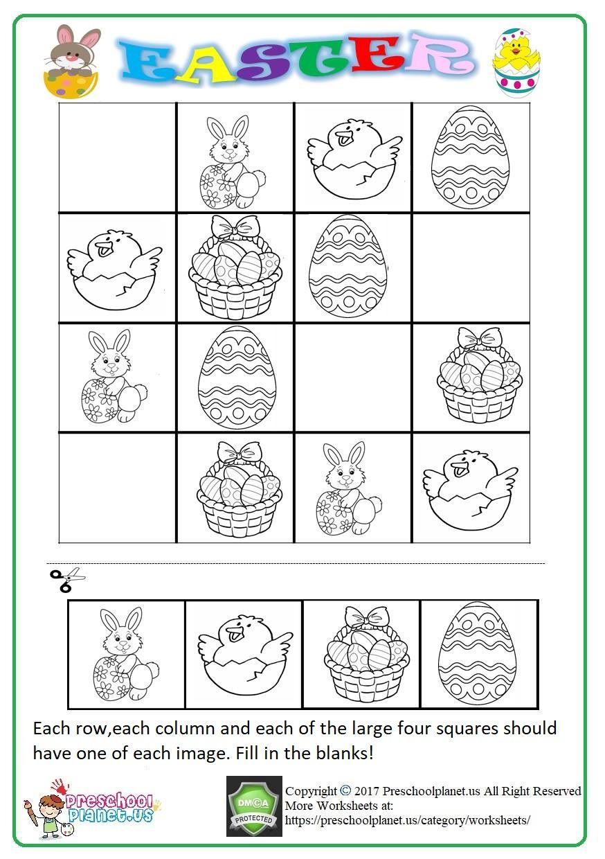 Sudoku Worksheets Pdf Kleuterschool Werkbladen Pasen Werkbladen