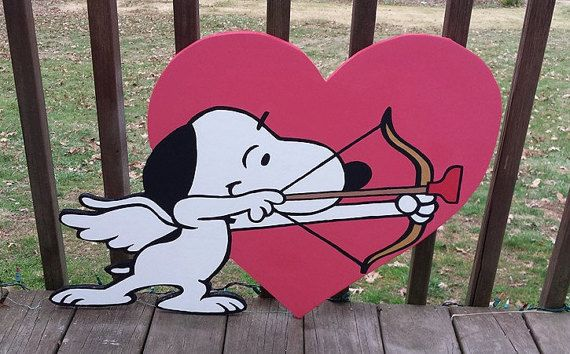 Cute Snoopy Cupid Valentine S Day Yard Art By