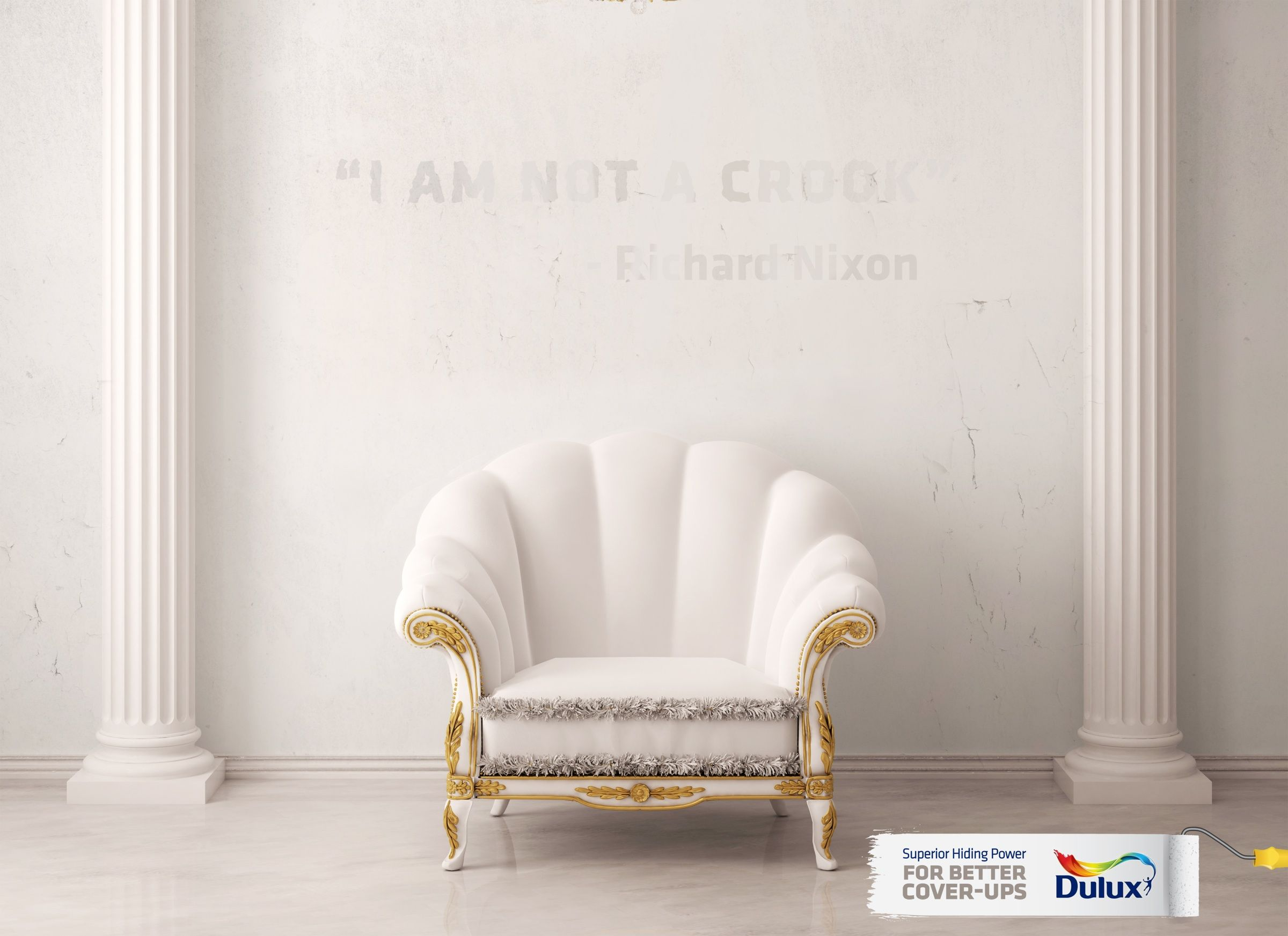 Nigerian Latest Dulux Mixing Painted Living Room