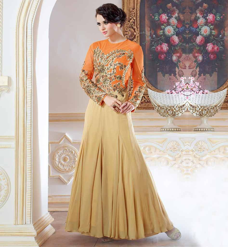 Designer evening gowns online shopping in indian vdcin9601 ...