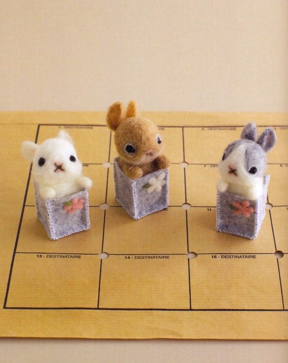 Animal Life Felting Needle Book Japanese Craft Book Felt