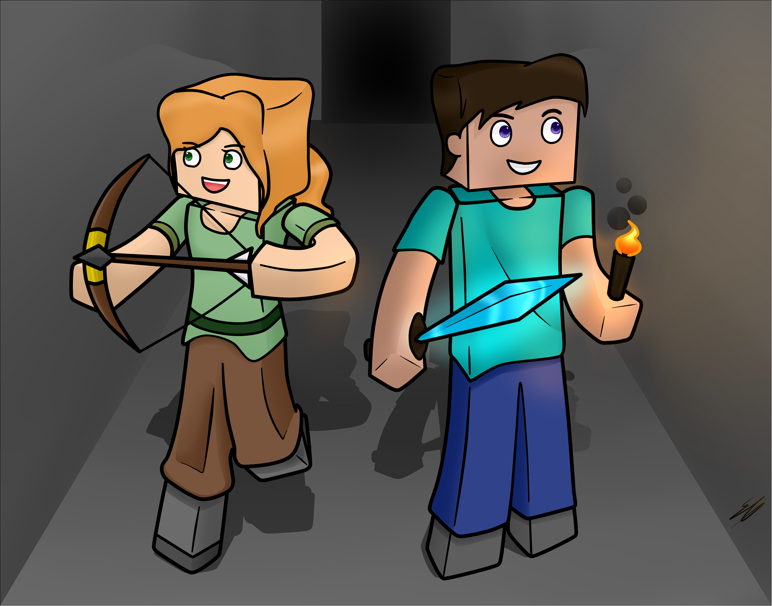 Image Result For Minecraft Steve And Alex Kissing Minecraft Anime Minecraft Steve Minecraft Comics
