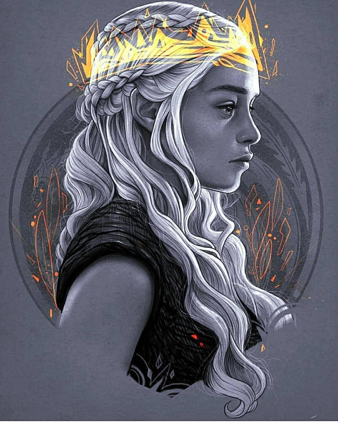 Cool Daenerys Targaryen Artwork Gameofthrones Gameofthronesart