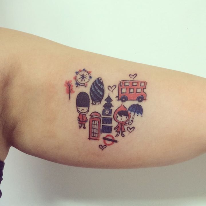 London Lovers Tattoo Art By Dn Alves Daniel R Alves Londres