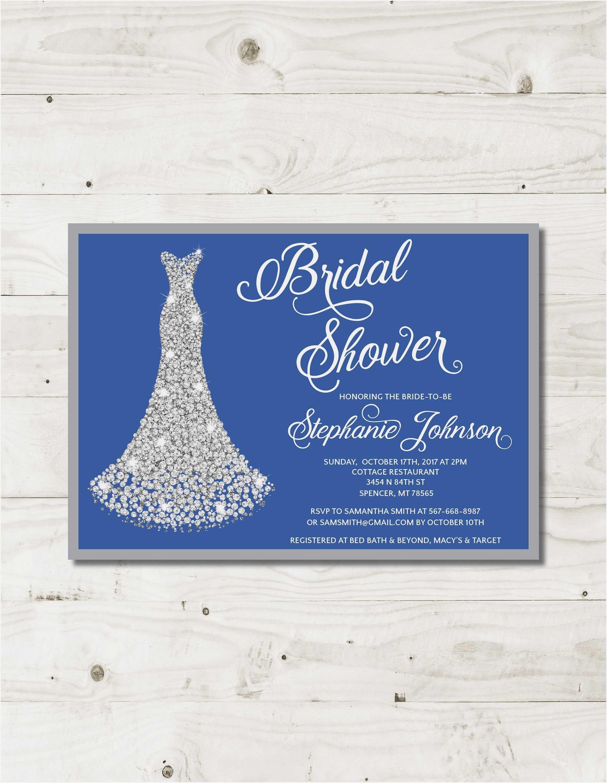 Storkie Bridal Shower Invitations Emily Post Wedding Invitation Wording Blue Bridal Shower Invitations Bridal Shower Invitations Royal Blue Wedding Invitations