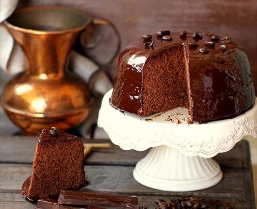Pastel de chocolate y café al microondas