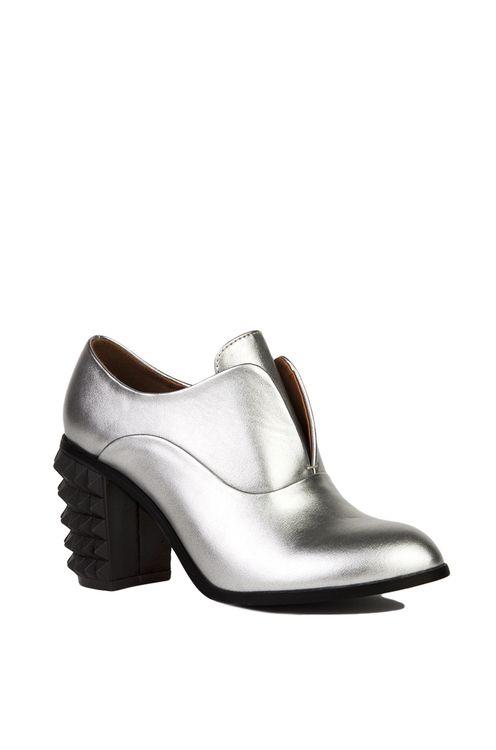 Silver Metallic Booties | Women Shoes Online | AKIRA