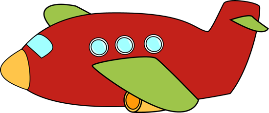Red Airplane Clip Art Image - Red Airplane