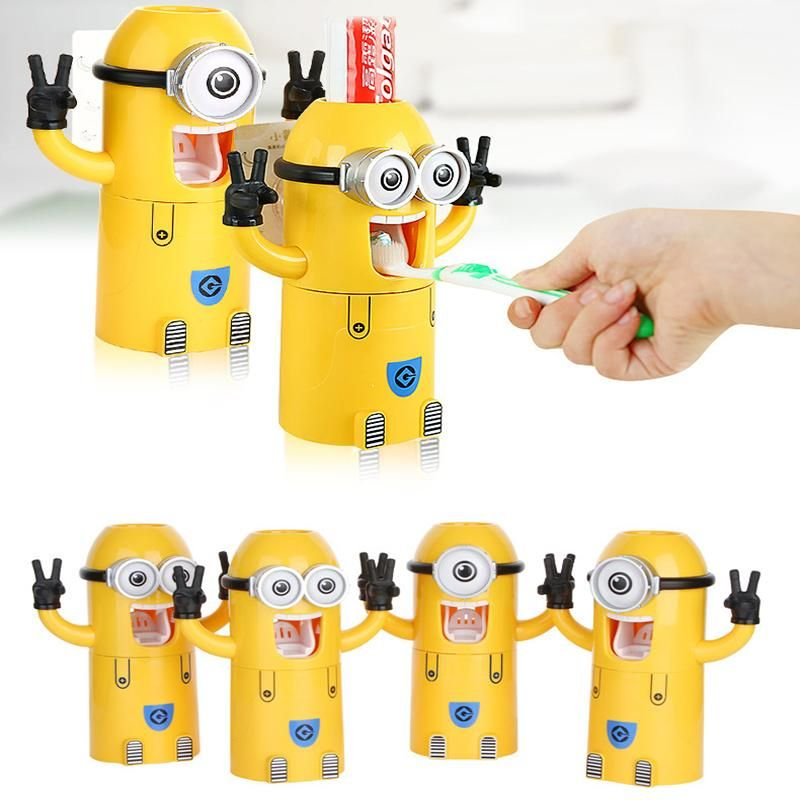Bathroom Products Cartoon Toothbrush Holder Toothpaste