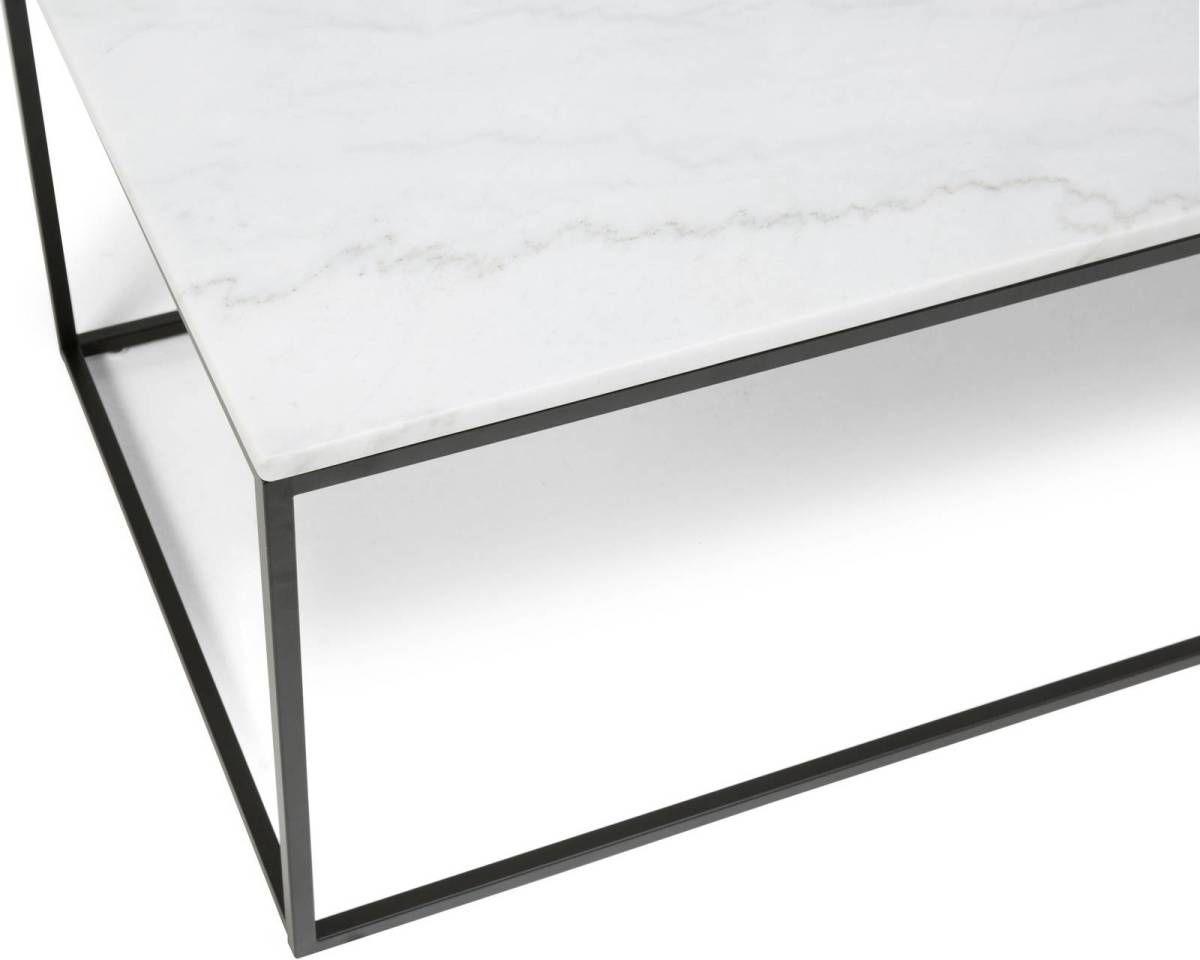 Sohvapöytä Olga 120x60x45 cm valkoinen marmori/teräs mustilla jaloilla  lisäkuva