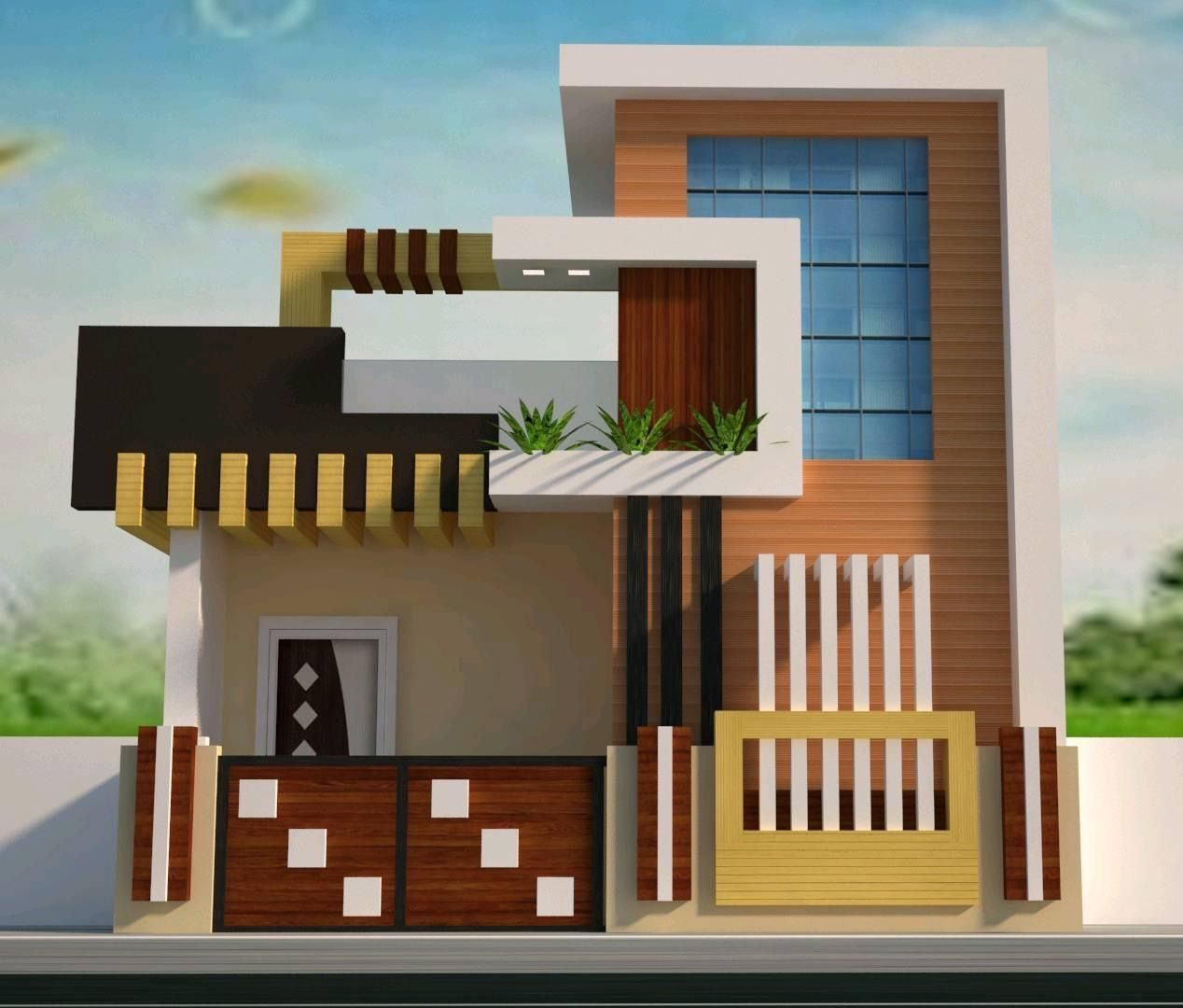 Smart house | Small house elevation design, House ...