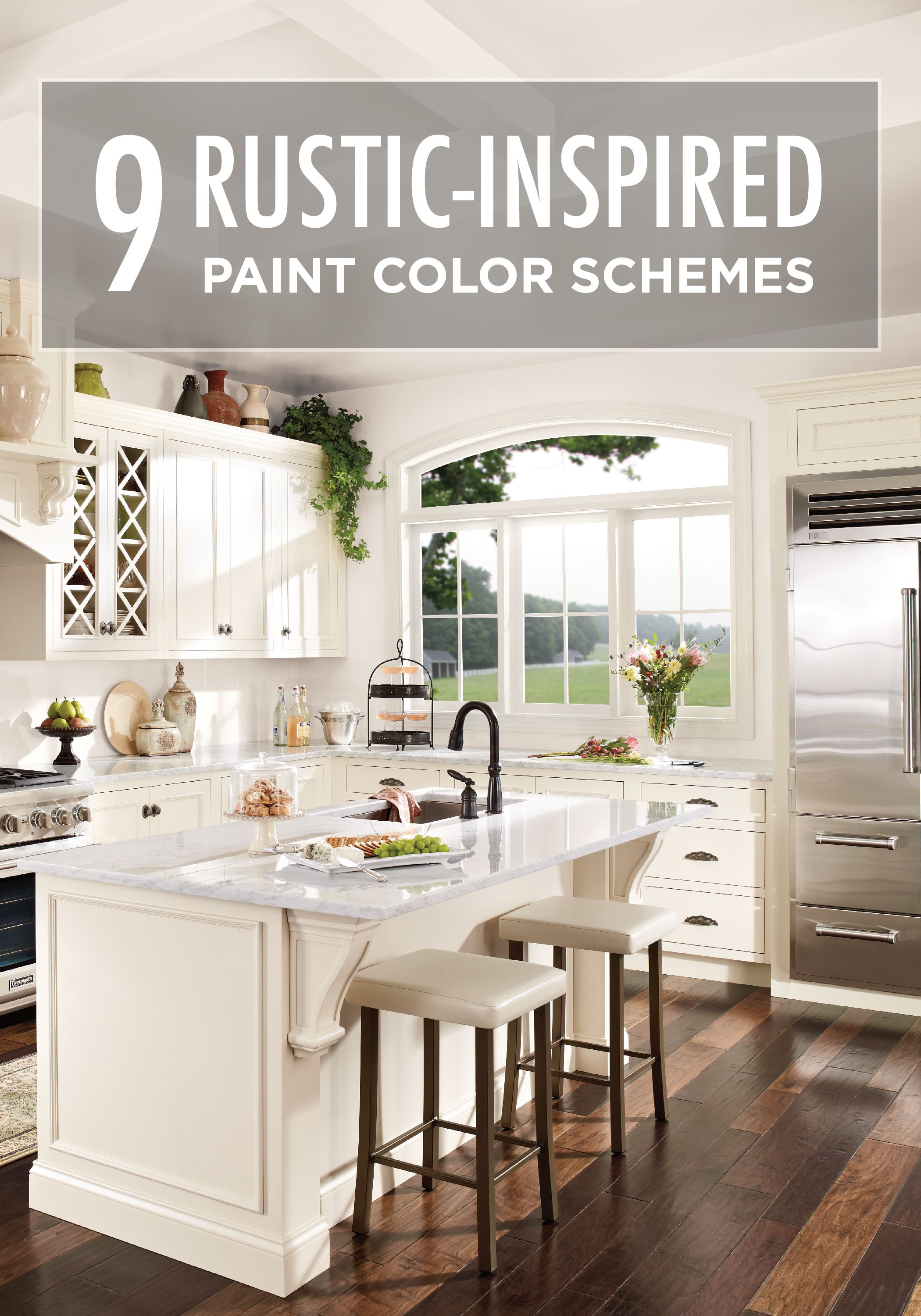 these 9 rustic inspired paint color schemes are sure to on interior color schemes id=86589