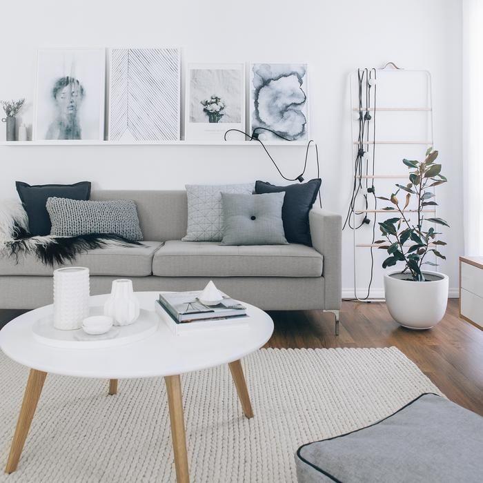 Button Cushion Light Grey Grey Sofa Living Room Grey Furniture Living Room Living Room Scandinavian