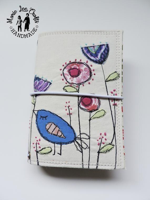 200415e250266 Sleeping Bird Free-Motion Embroidery Faux Dori, Traveler's Notebook ...