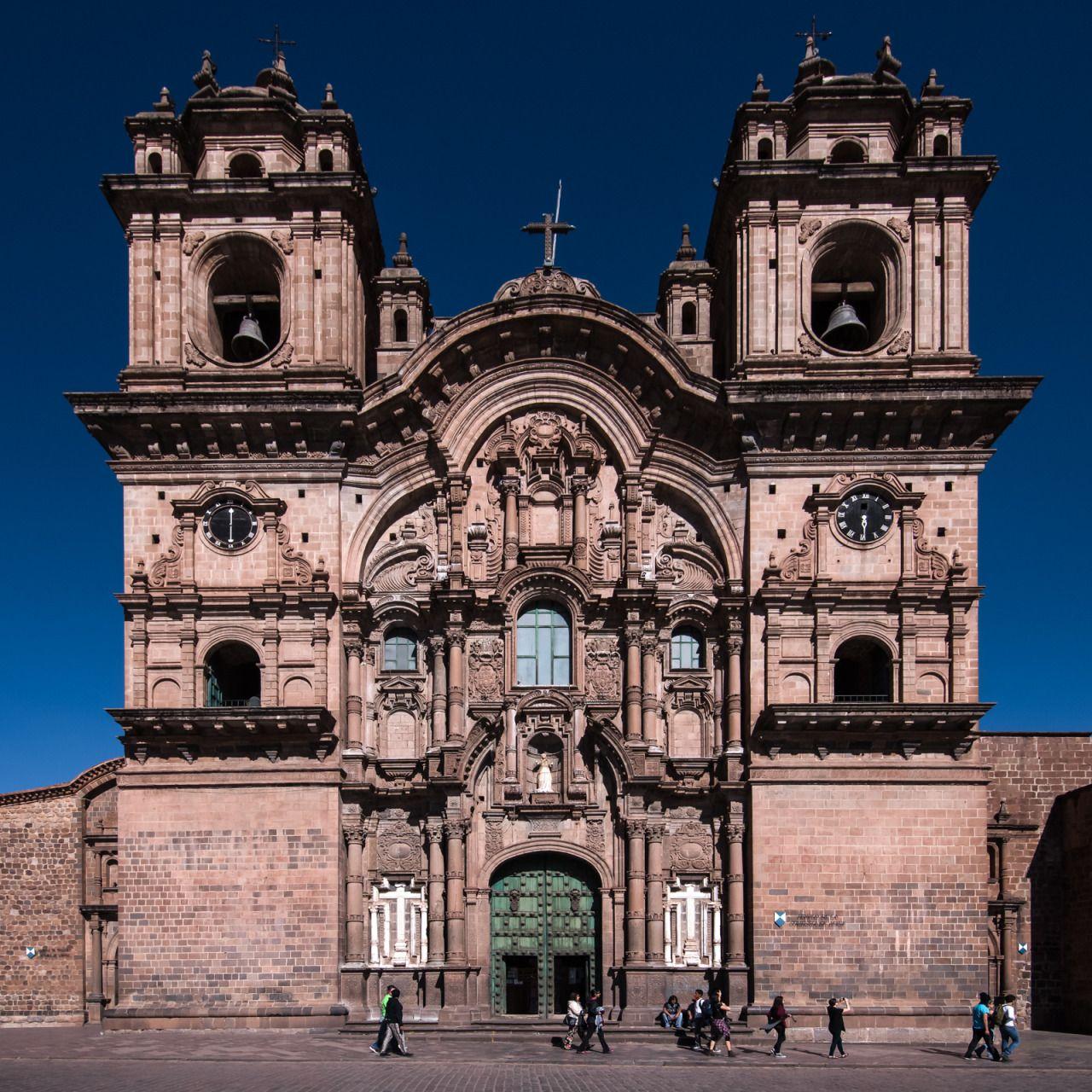 ninbra: Church of the Society of Jesus in the Plaza de Armas, Cusco, Peru.