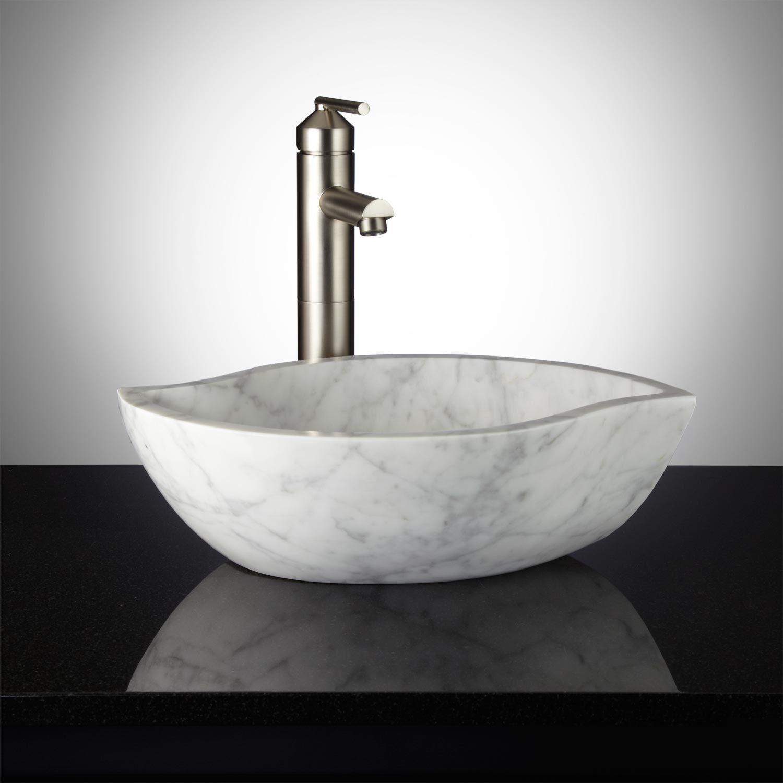Pontus Carrara Marble Vessel Sink