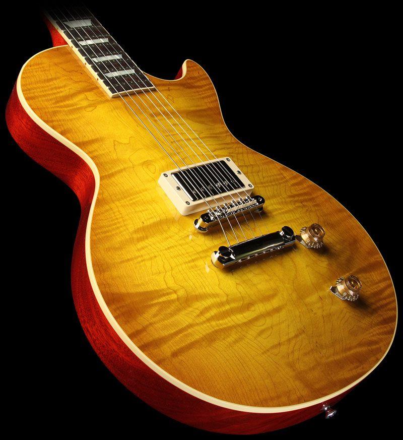 Gibson Custom Shop \'58 Les Paul Single Pickup Electric Guitar Lemon ...