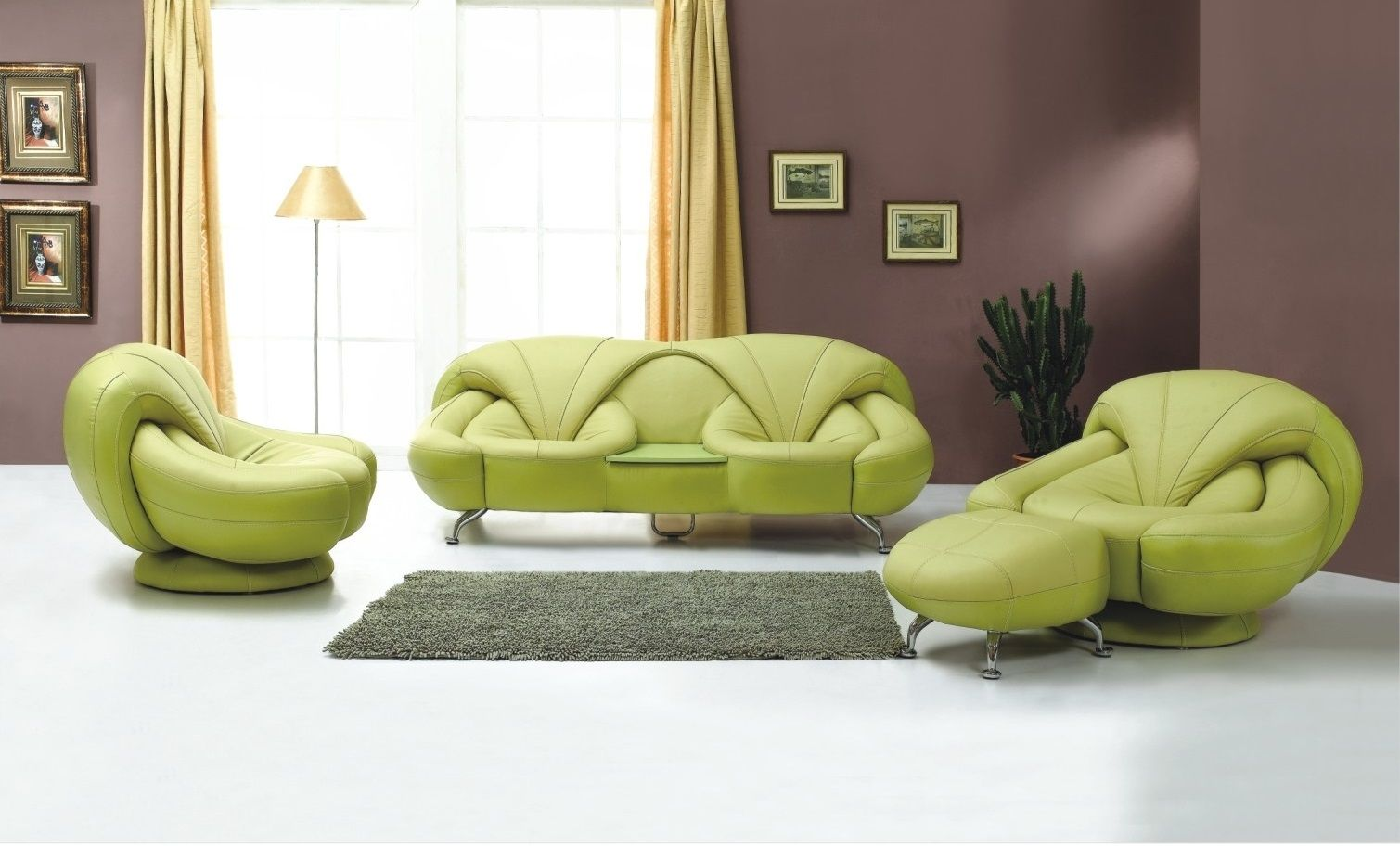 Excellent-Green-Living-Room-Chairs-with-Mini-Gray-Rug-Ideas ...