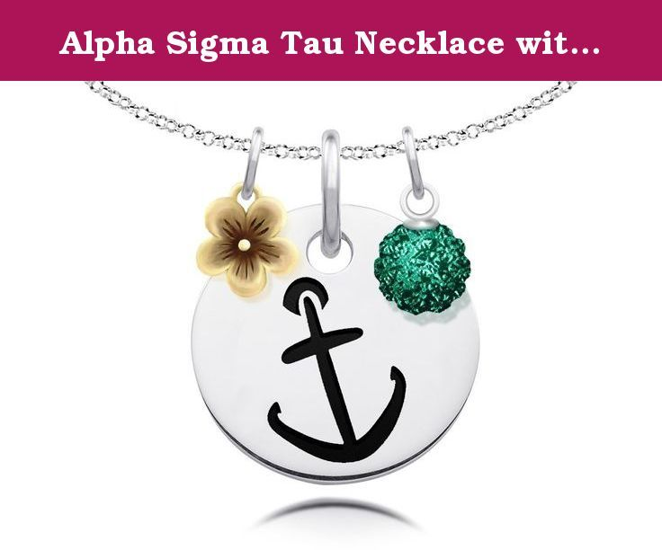 Sigma Sigma Sigma Necklace with Gold Flower Charm Accent