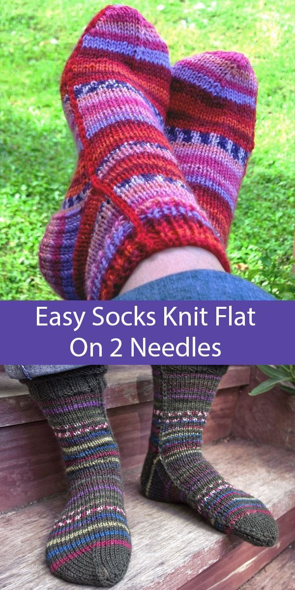 Easy Socks on 2 Needles Knitting Patterns - These easy to ...