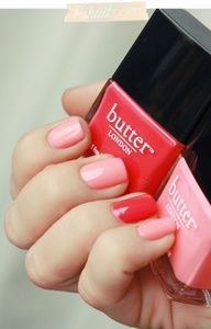 """Butter London in """"Macbeth"""" & """"Trout Pout"""" for a cute Valentine's Day manicure"""