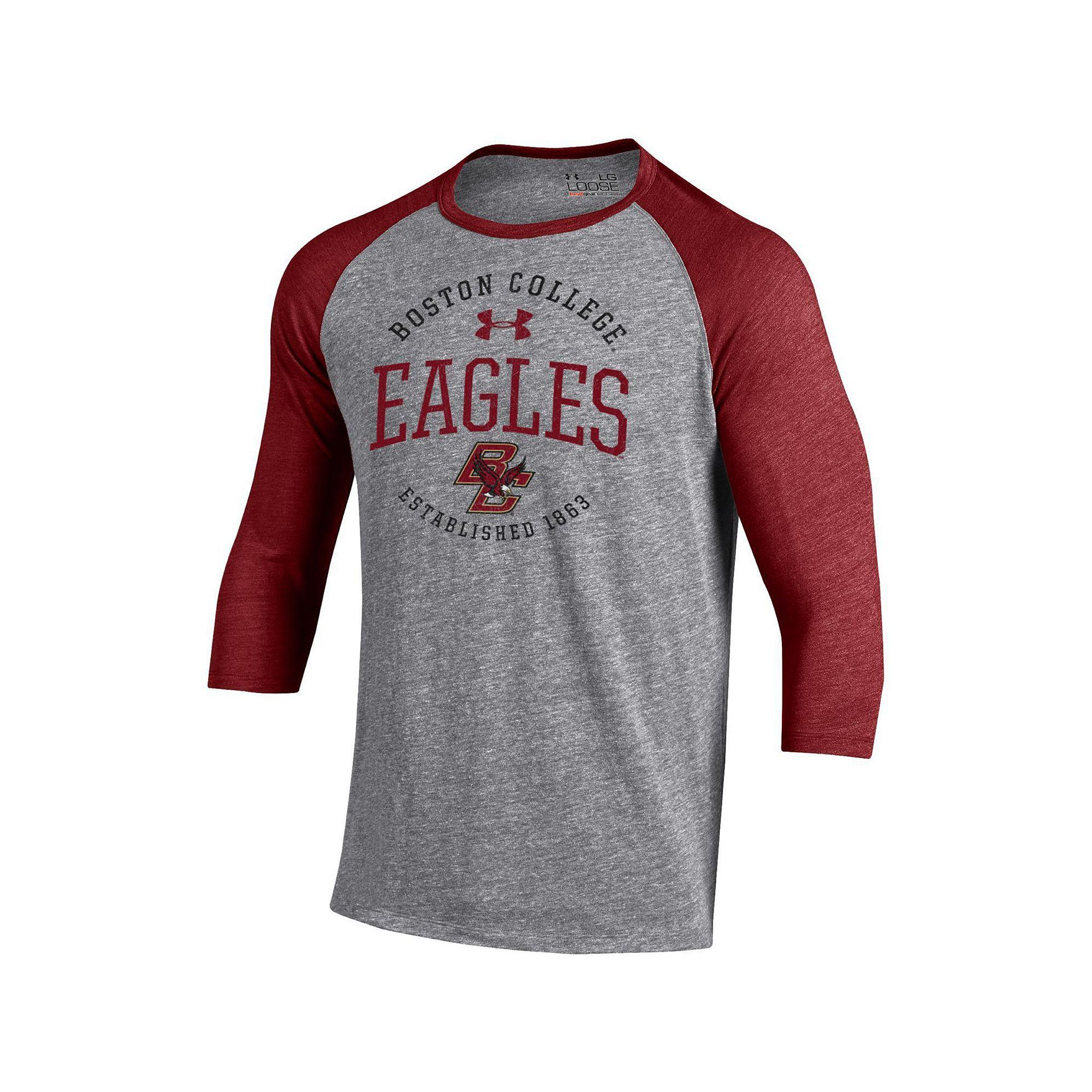 Men's Under Armour Boston College Eagles Triblend Baseball Tee