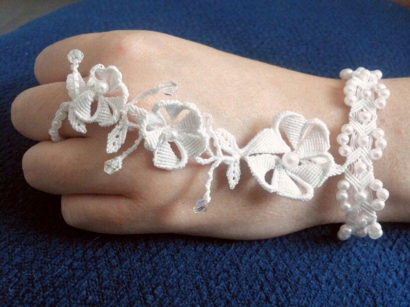 Bracciale macramé per una sposa Wedding bracelet