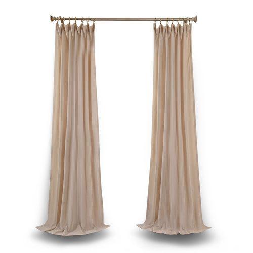 Tumbleweed 108 X 50 In. Faux Linen Sheer Single Curtain