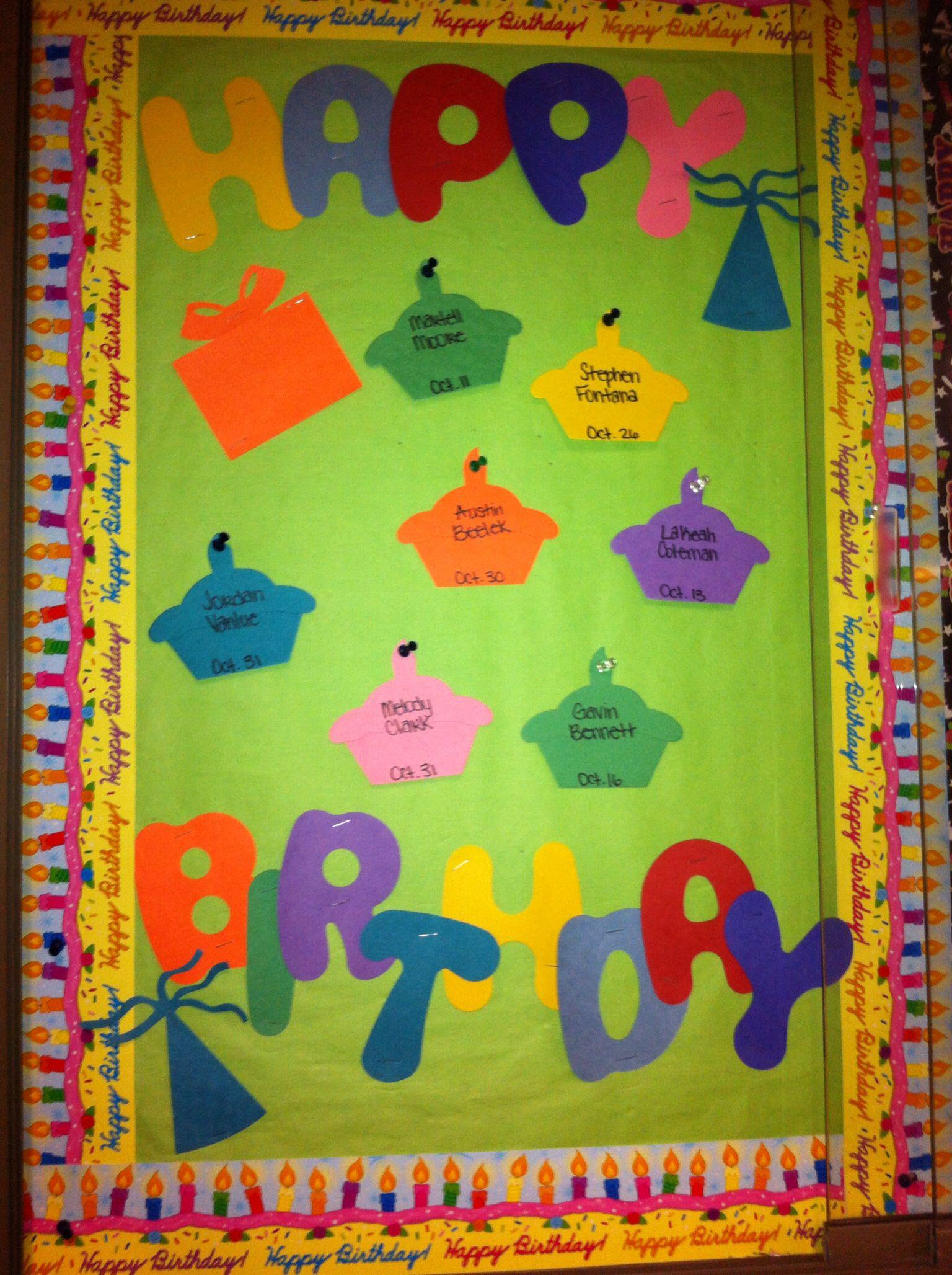 Classroom Decoration Happy Birthday ~ Happy birthday bulletin board ra lifestyle pinterest