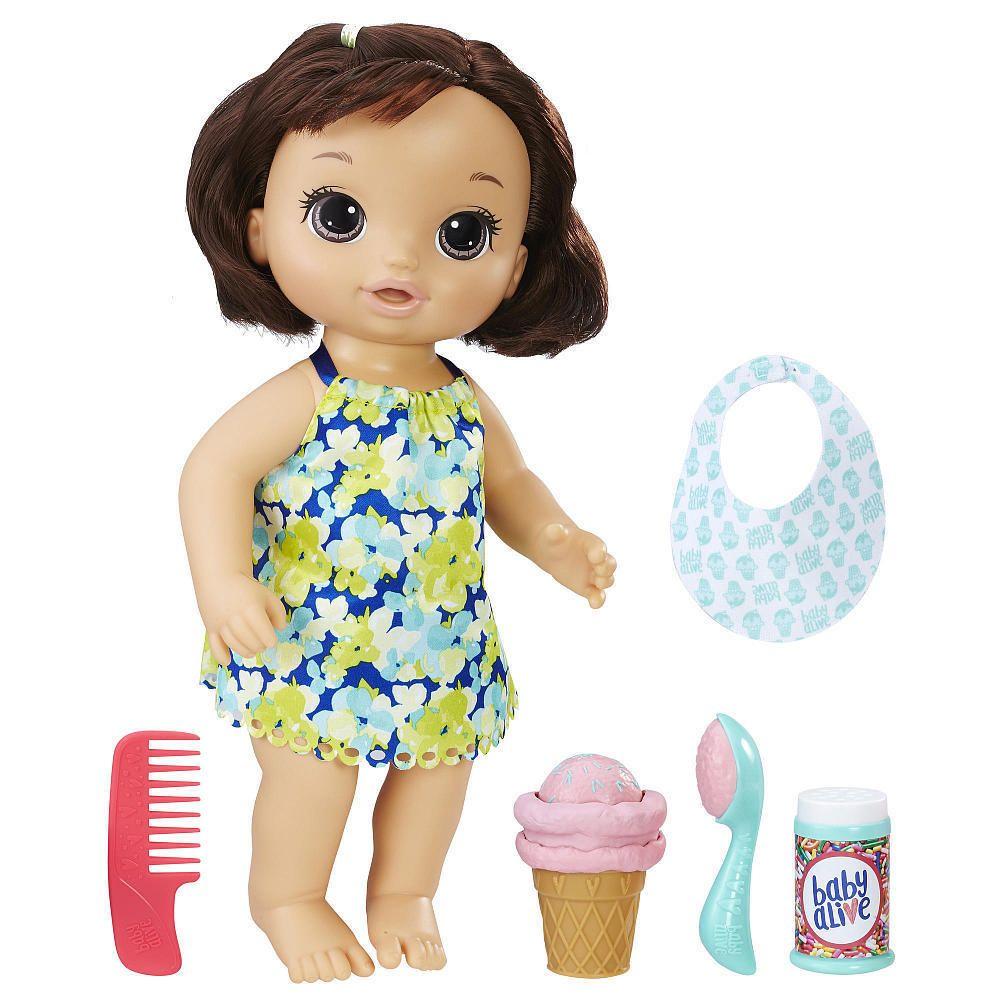 Baby Alive Magical Scoops Baby Doll Brunette Hasbro Nib Hasbrobabyalive Dollswithclothingaccessories Baby Alive Magical Scoops Baby Alive Dolls Baby Alive